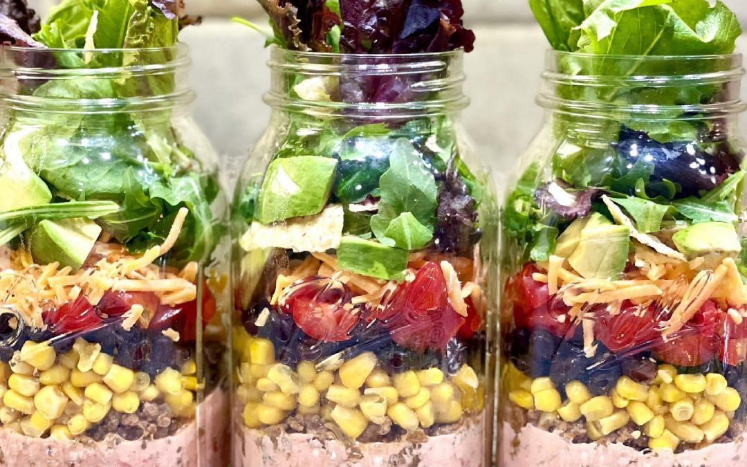Healthy Taco Salad in a Jar!