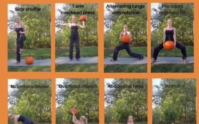 Full body pumpkin workout