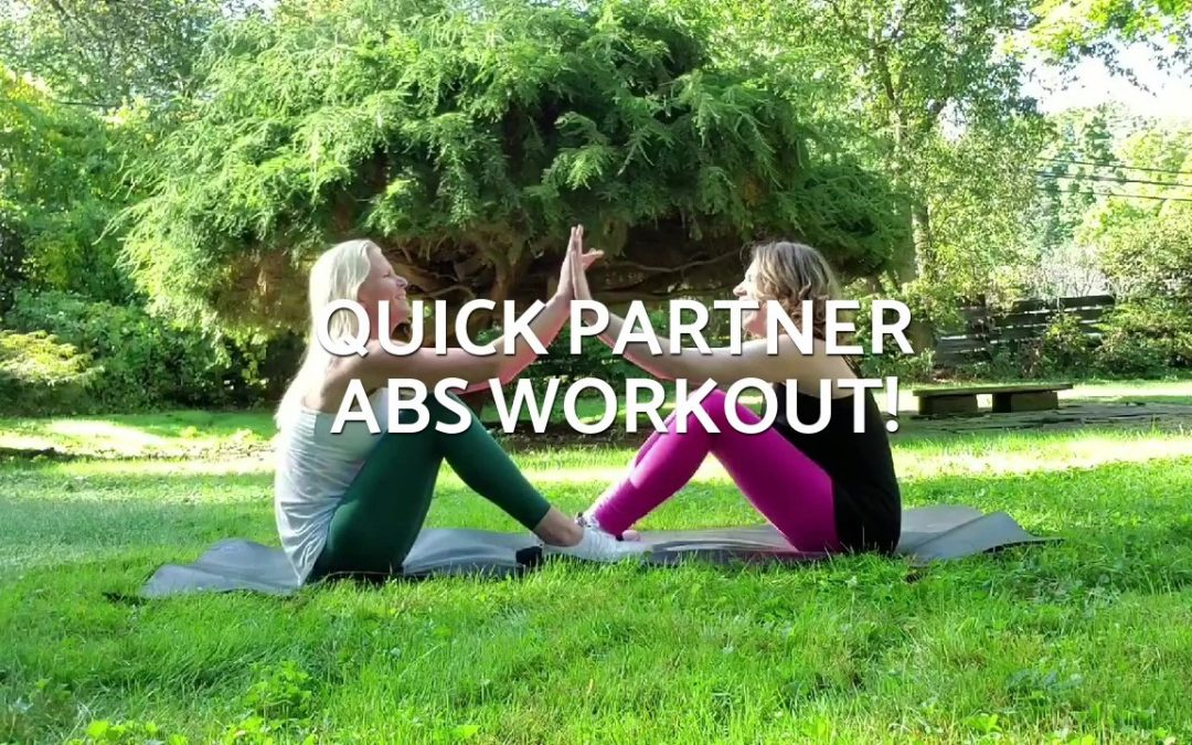 Partner abs workout!