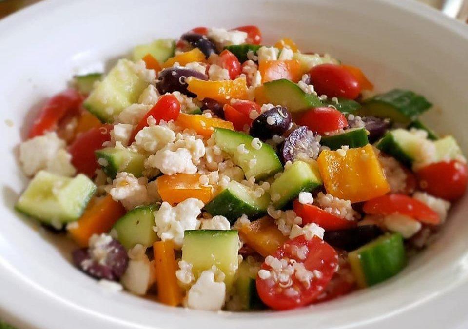 Greek salad with quinoa!