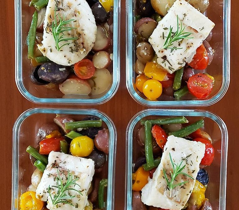 One-Pan Baked Cod with veggies!