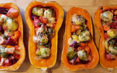 Roasted Vegetable Stuffed Squash!