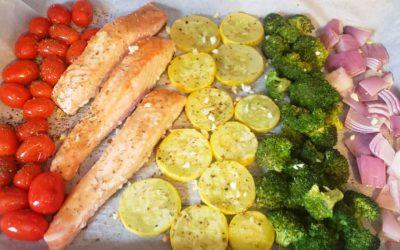 Sheet Pan Salmon with Veggies!