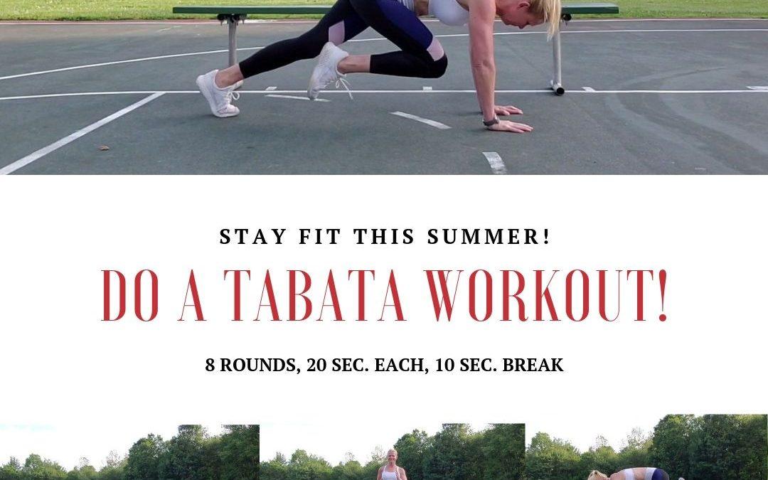 Tabata exercise ideas!