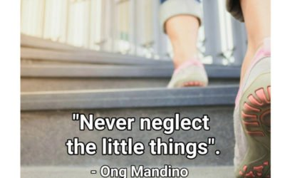 Never neglect the little things